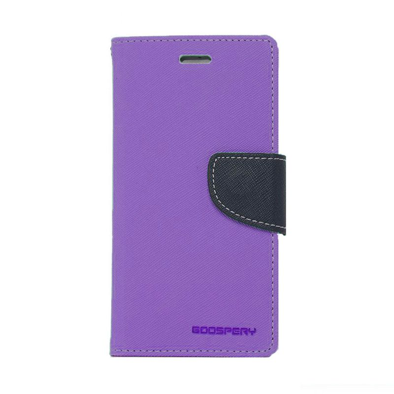 Mercury Goospery Fancy Diary Purple Navy Casing for HTC One Mini