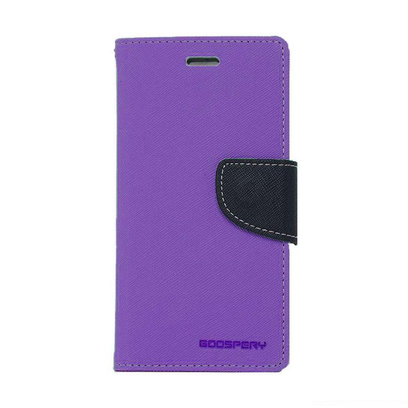 Mercury Goospery Fancy Diary Purple Navy Casing for Oppo Find 5 Mini R827