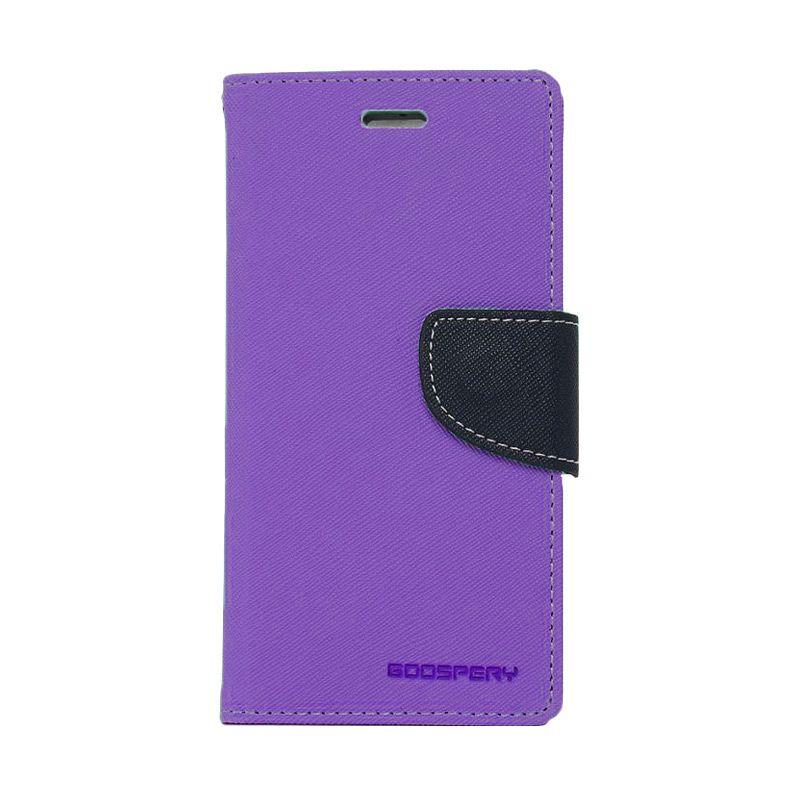Mercury Goospery Fancy Diary Purple Navy Casing for Samsung Galaxy E7
