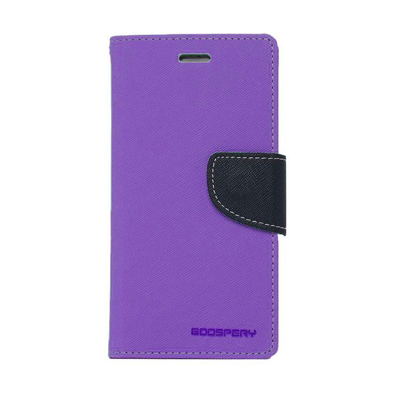 Mercury Goospery Fancy Diary Purple Navy Casing for Samsung Galaxy Grand Prime