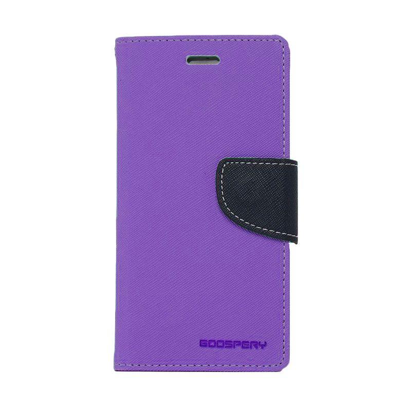 Mercury Goospery Fancy Diary Purple Navy Casing for Samsung Galaxy Note 3 Neo