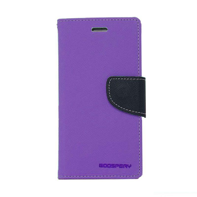 Mercury Goospery Fancy Diary Purple Navy Casing for Samsung Galaxy Note Edge