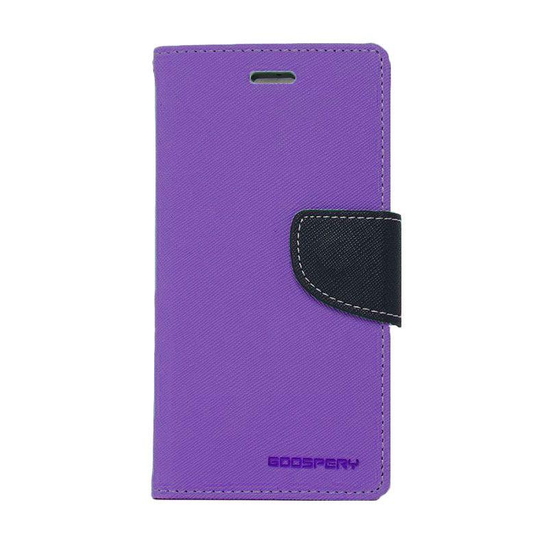 Mercury Goospery Fancy Diary Purple Navy Casing for Xperia C3