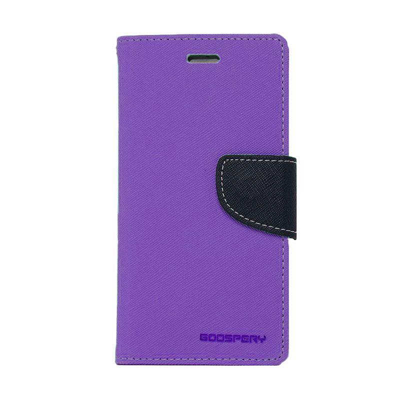 Mercury Goospery Fancy Diary Purple Navy Flip Cover Casing for Asus Zenfone 6