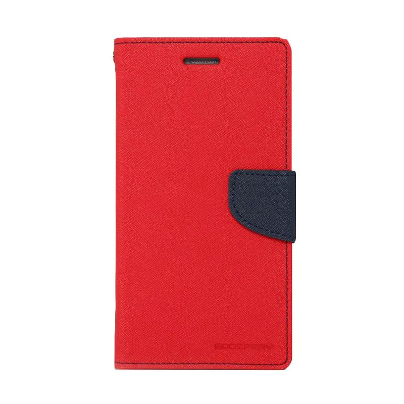 Mercury Goospery Fancy Diary Red Navy Casing for Galaxy E5