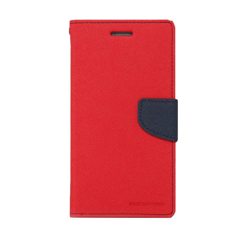 Mercury Goospery Fancy Diary Red Navy Casing for Iphone 6