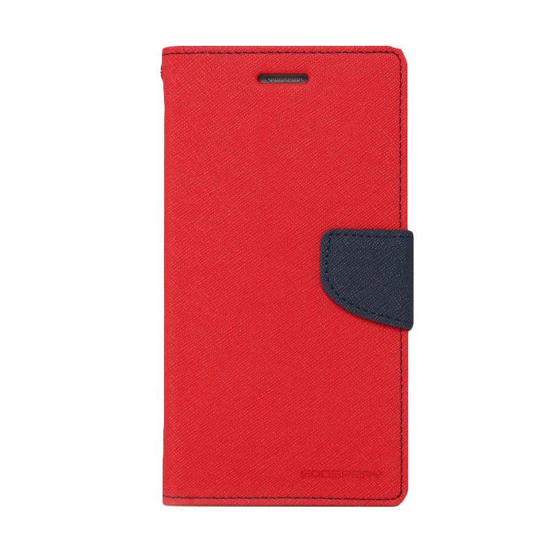 Mercury Goospery Fancy Diary Red Navy Casing for LG G2 Mini
