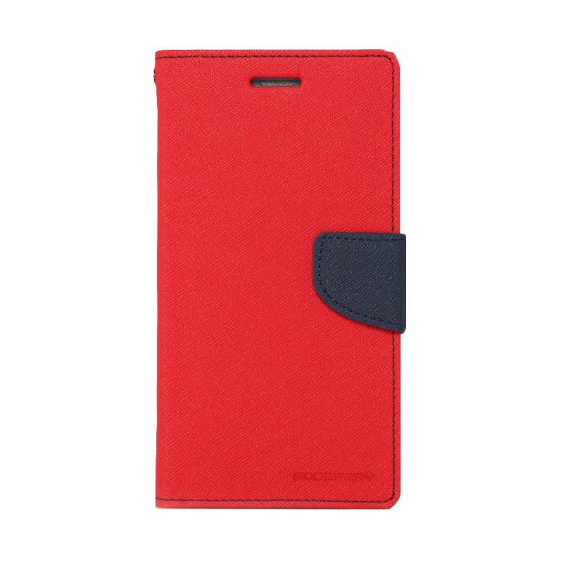 Mercury Goospery Fancy Diary Red Navy Casing for Oppo Neo R831