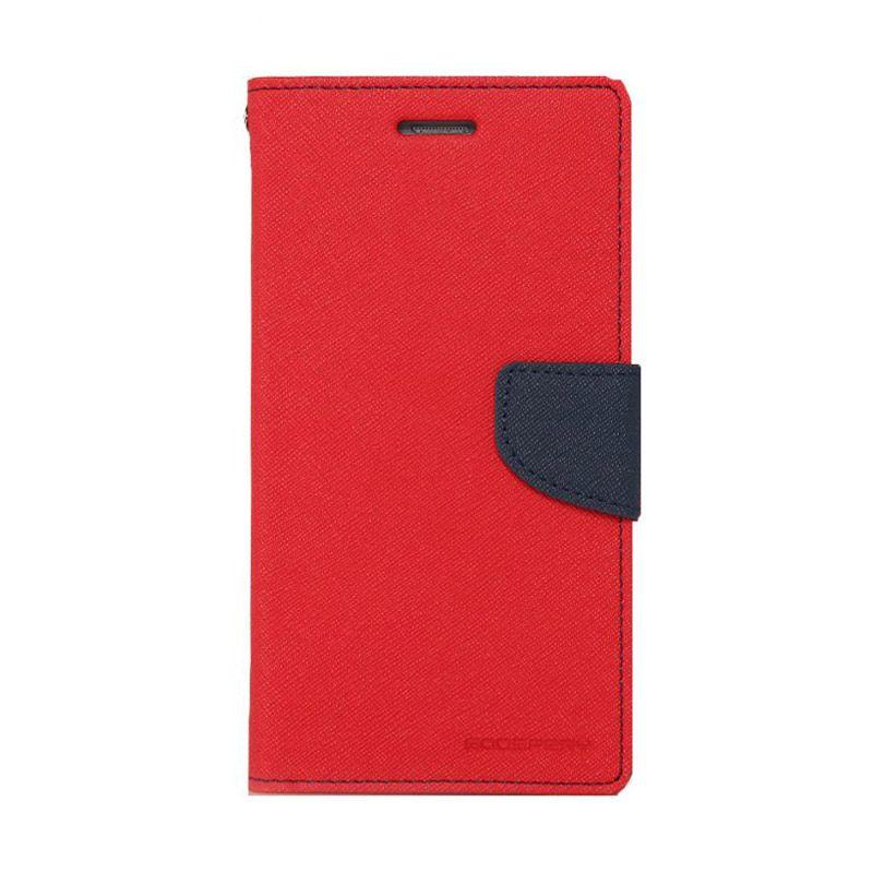 Mercury Goospery Fancy Diary Red Navy Casing for Xperia Z3