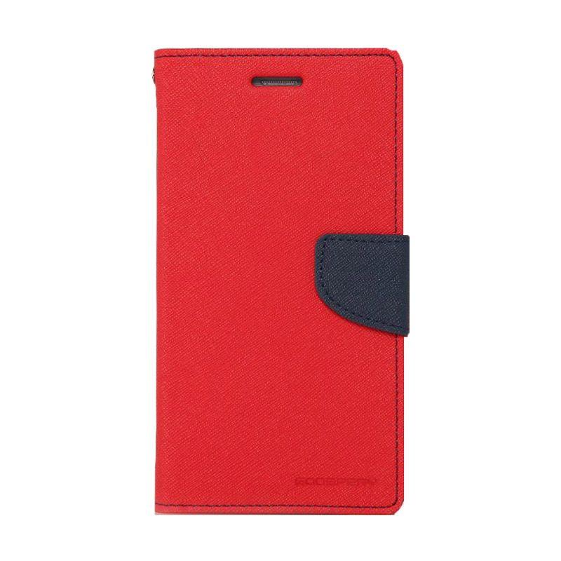 Mercury Goospery Fancy Diary Red Navy Casing for Zenfone 4