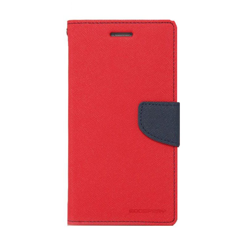 Mercury Goospery Fancy Diary Red Navy Flip Cover Casing for LG G Pro 2