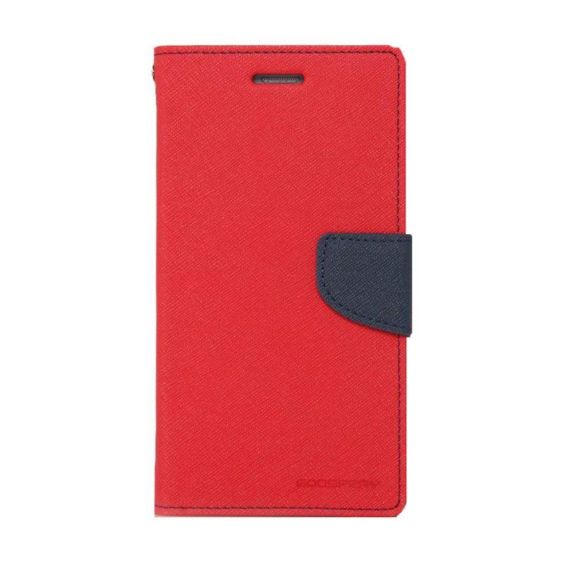 Mercury Goospery Fancy Diary Red Navy Flip Cover Casing for LG G3 Stylus