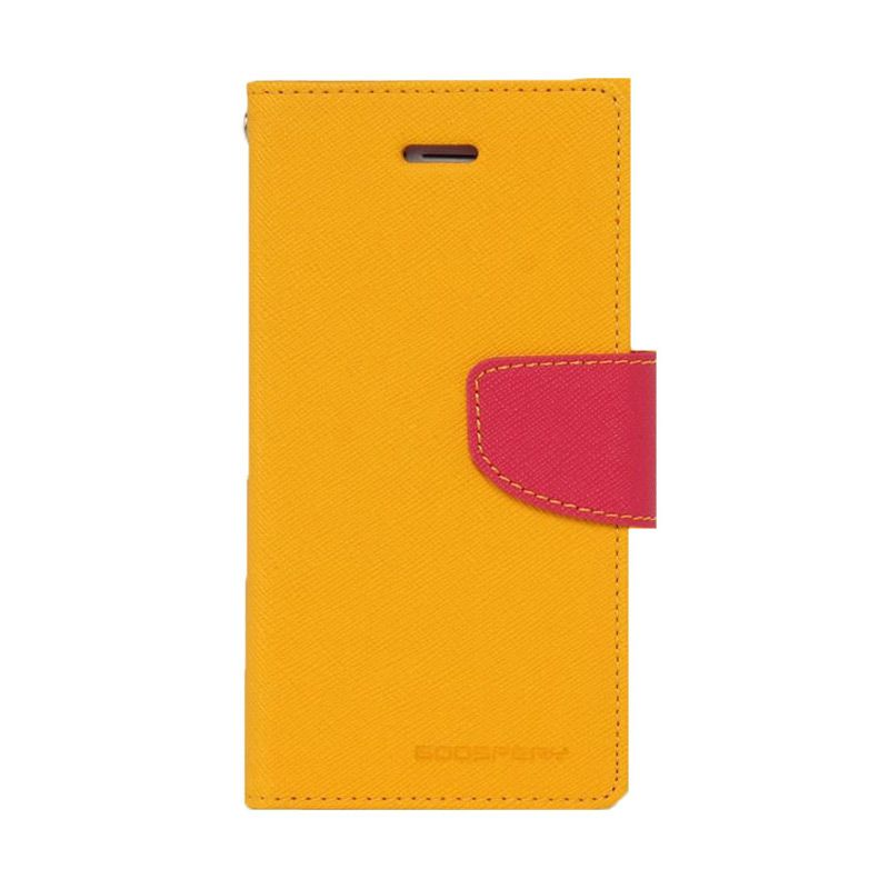 Mercury Goospery Fancy Diary Yellow Hot Pink Casing for Oppo Joy