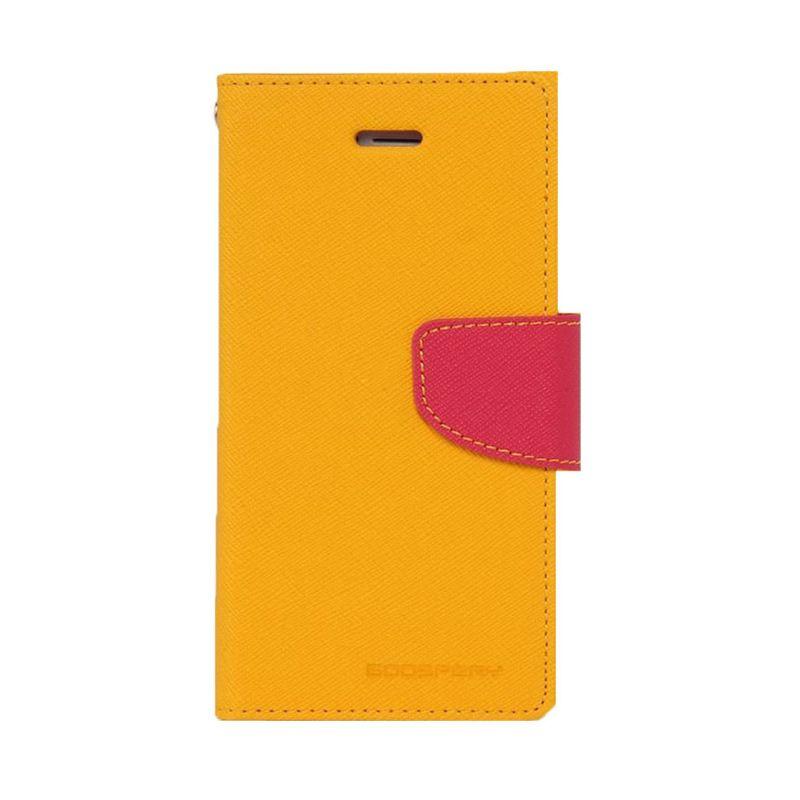 Mercury Goospery Fancy Diary Yellow Hot Pink Casing for Oppo Yoyo