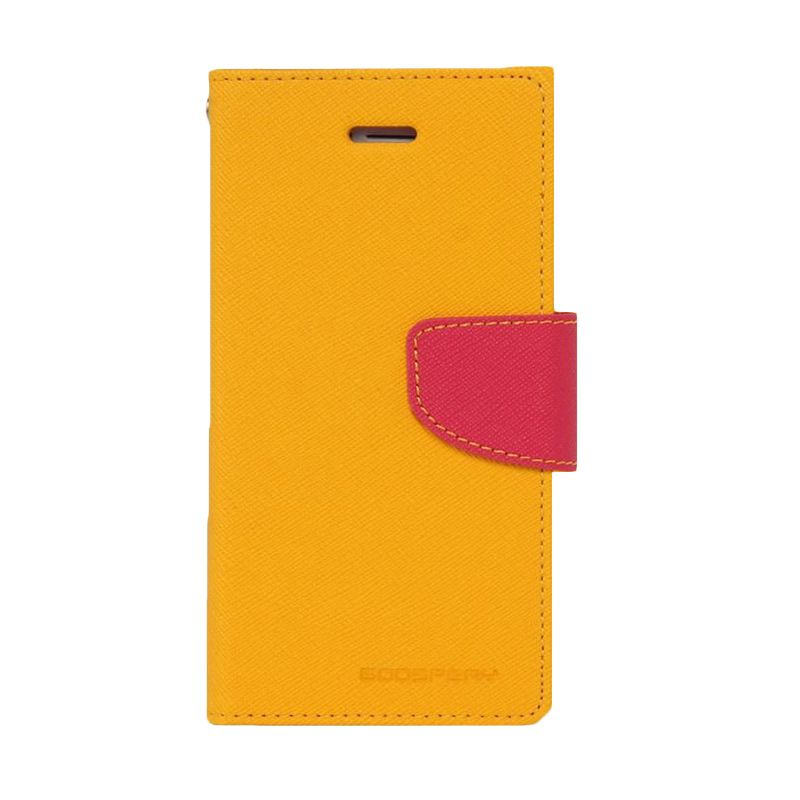 Mercury Goospery Fancy Diary Yellow Hot Pink Casing for Xperia Z3 Compact