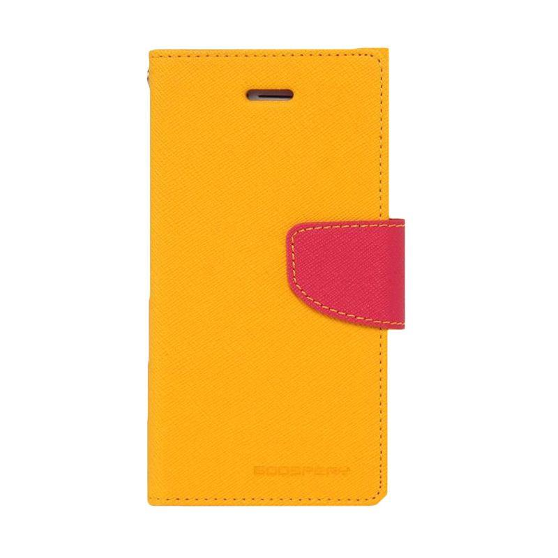 Mercury Goospery Fancy Diary Yellow Hot Pink Casing for Zenfone 5