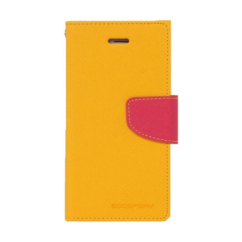 Mercury Goospery Fancy Diary Yellow Hot Pink Flip Cover Casing for LG G3