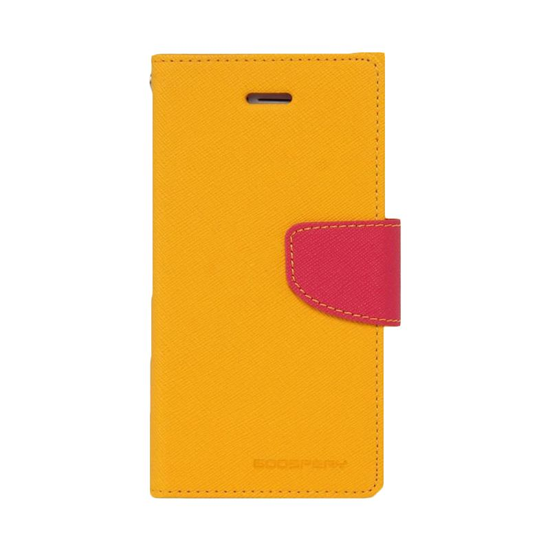 Mercury Goospery Fancy Diary Yellow Hot Pink Casing for Galaxy Core 2