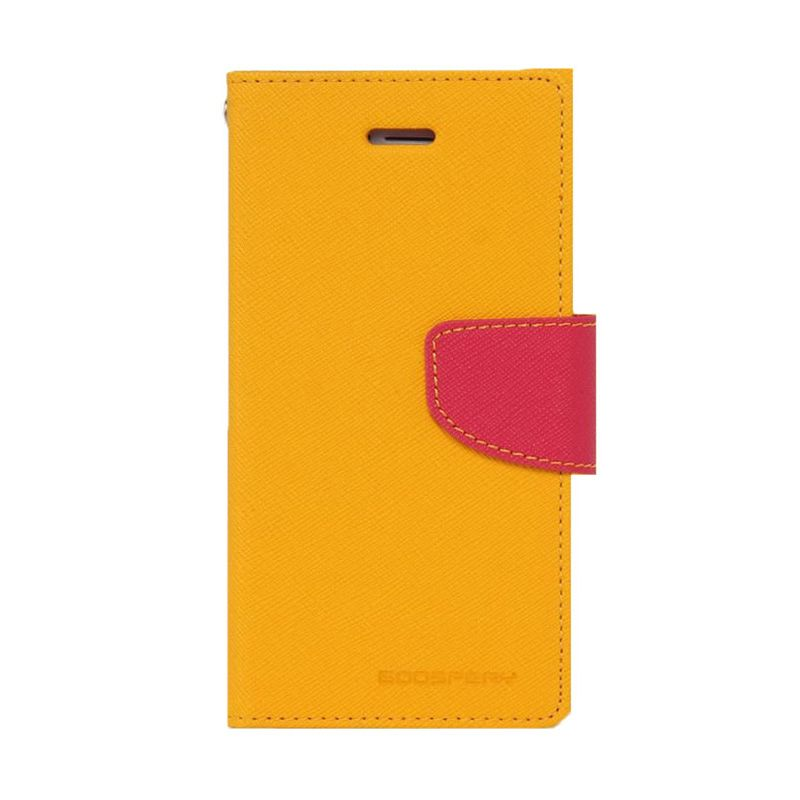 Mercury Goospery Fancy Diary Yellow Hot Pink Casing for Iphone 4 or 4S