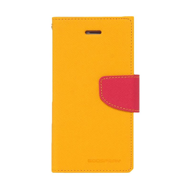 Mercury Goospery Fancy Diary Yellow Hot Pink Casing for Samsung Galaxy Grand Prime