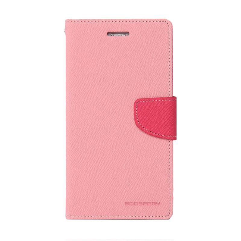 Mercury Goospery Fancy Diary Pink Hot Pink Flip Cover Casing for Sony Xperia T3