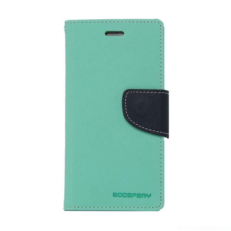 Mercury Goospery Fancy Diary Mint Navy Flip Cover Casing for Oppo Find 7