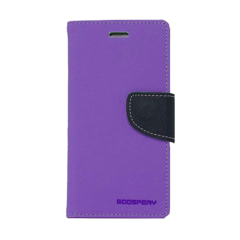Mercury Goospery Fancy Diary Purple Navy Flip Cover Casing for Oppo Find 7