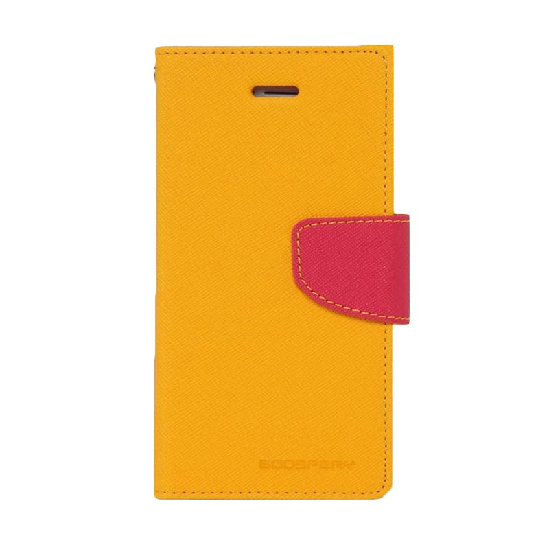 Mercury Goospery Fancy Diary Yellow Hot Pink Flip Cover Casing for Oppo Find 7