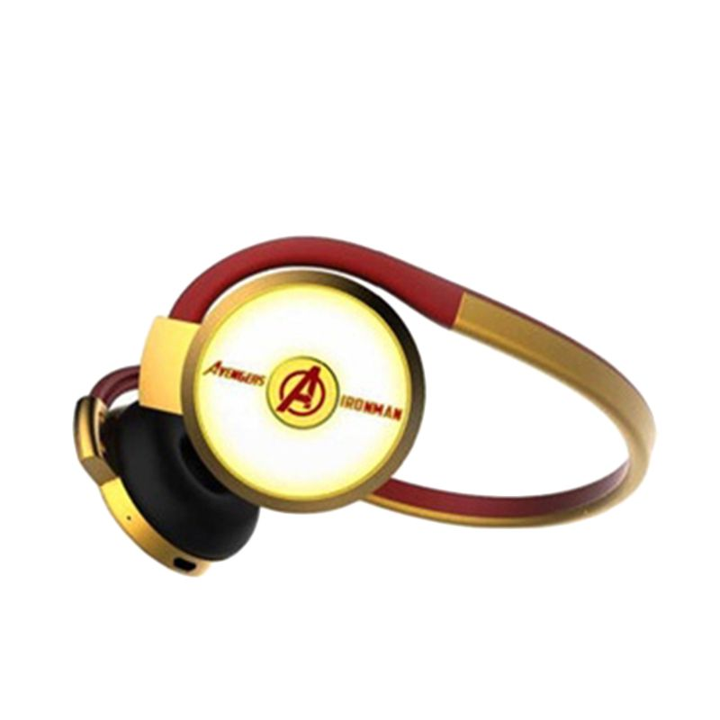 E-blue Marvel Avengers IronMan Red Gold Bluetooth Headset
