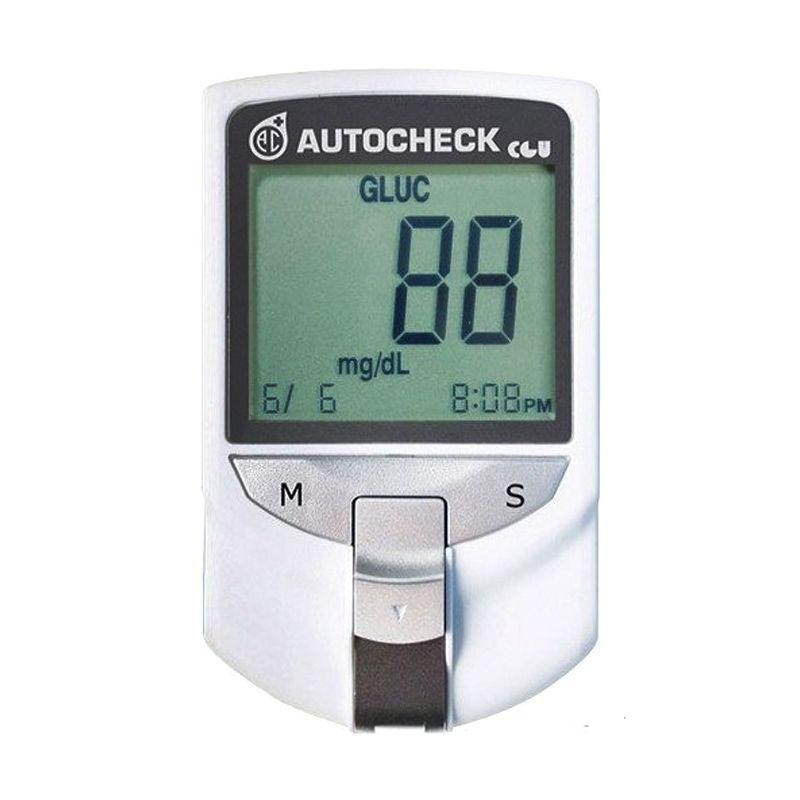 Autocheck ALat Tes Gula Darah Silver Alat Monitor Kesehatan [3 in 1]