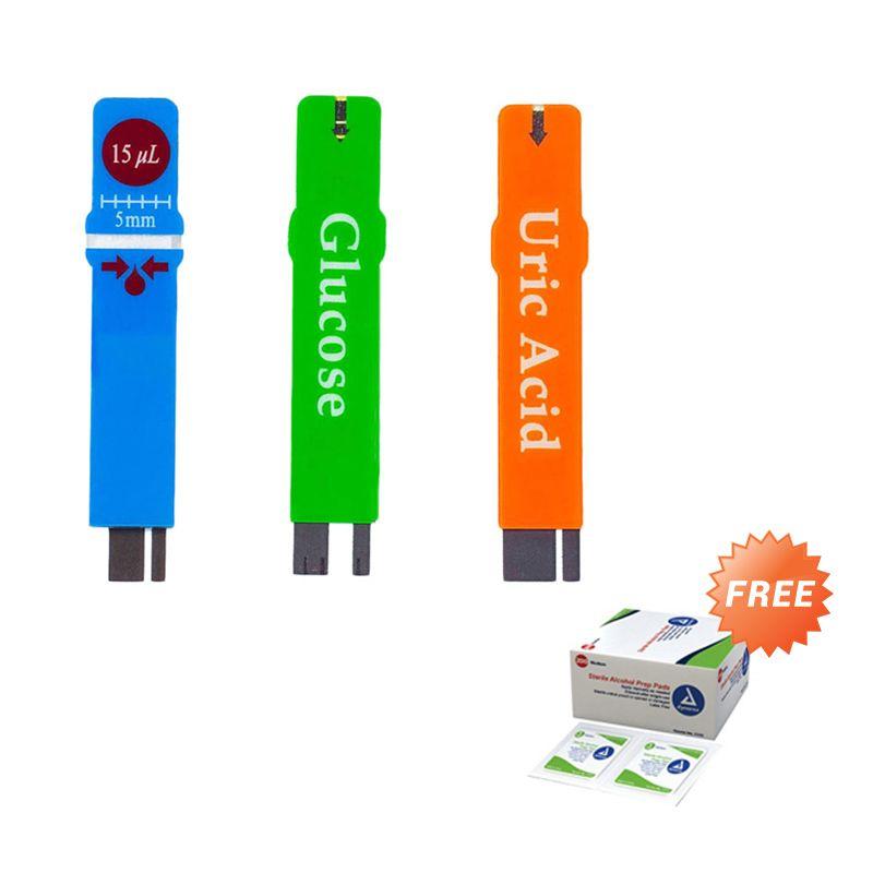 EasyTouch Paket Strip Alat Monitor Kesehatan + Alkohol pads