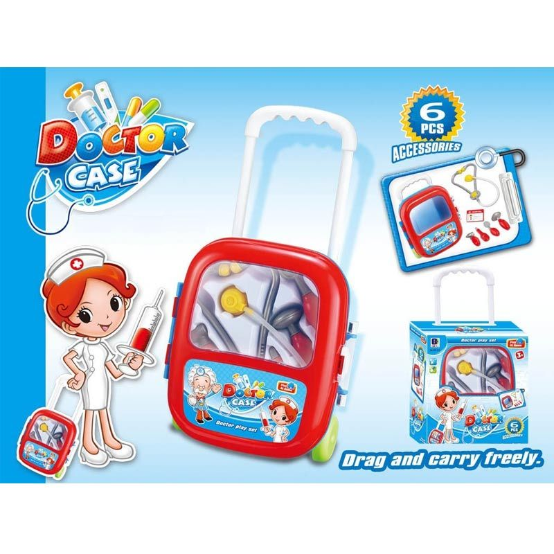 Tmo Doctor Case Trolley Biru Mainan Anak