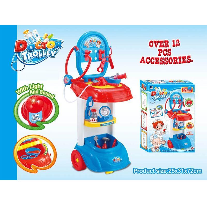 Tmo Doctor Trolley Play Set Biru Mainan Anak