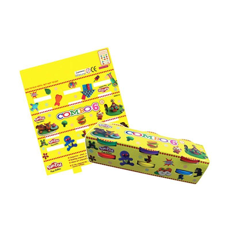 TMO Dough Warna Big Combo Kuning Mainan Anak [Isi 6]