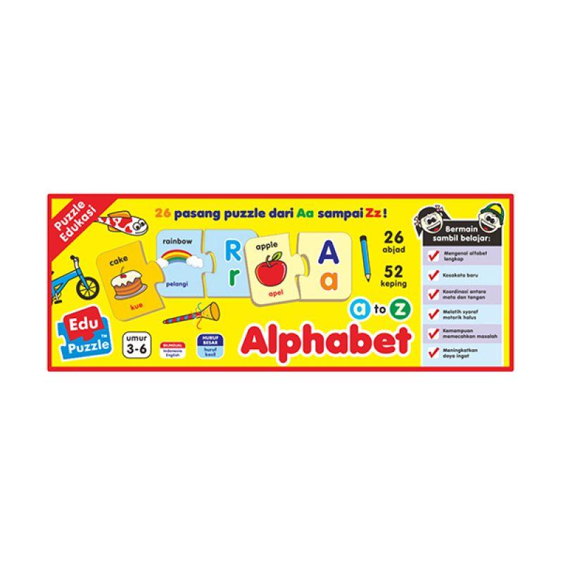 TMO Edu Alphabet Mainan Blok & Puzzle