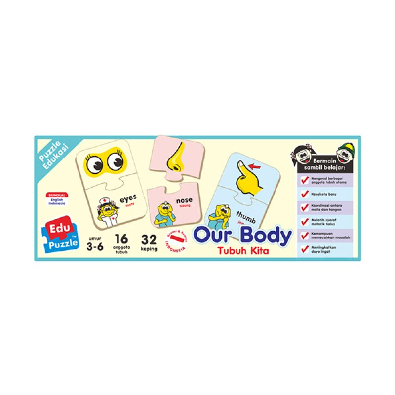 TMO Edu Our Body Mainan Blok & Puzzle