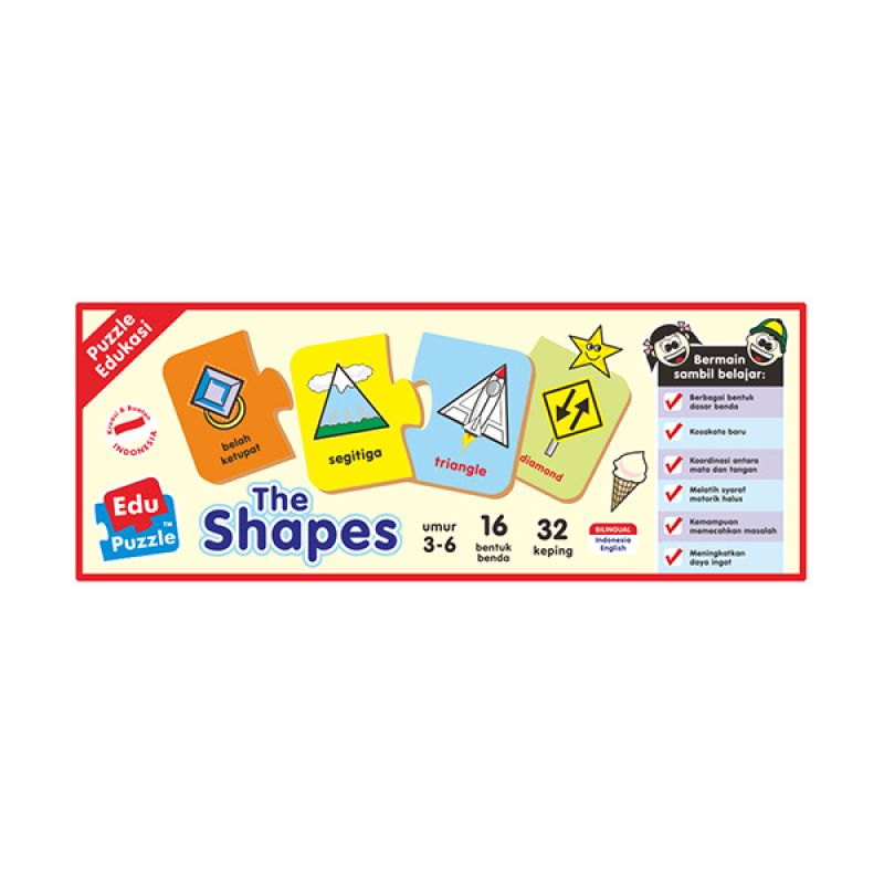 TMO Edu Shape Mainan Blok & Puzzle