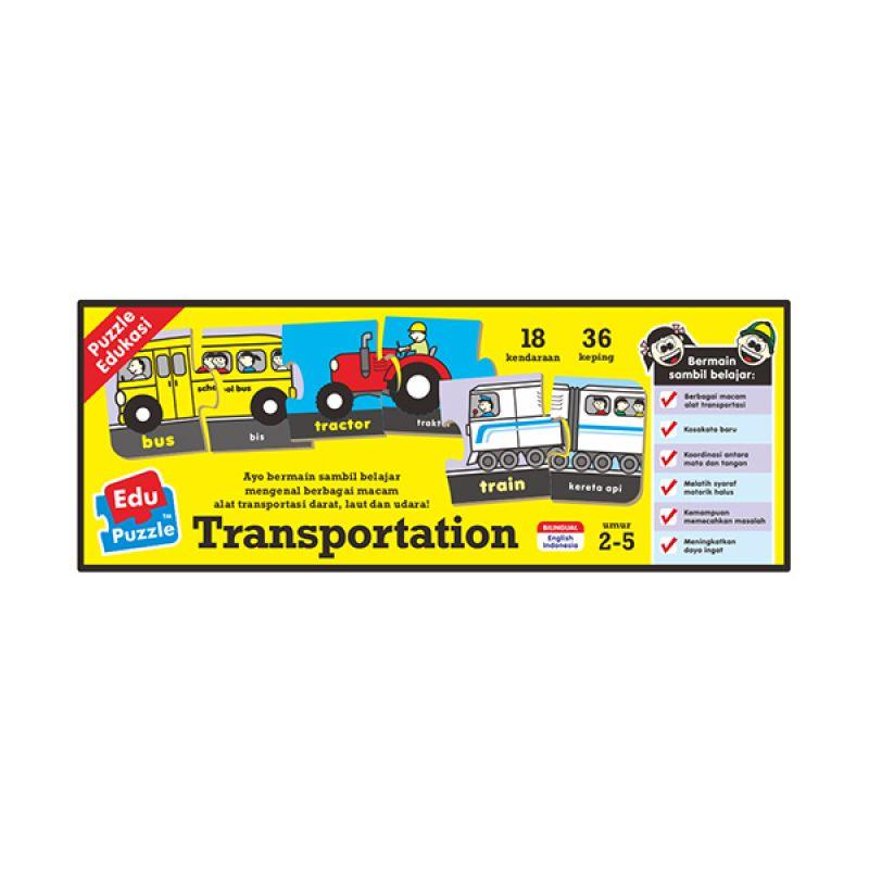 TMO Edu Transportasi Mainan Blok & Puzzle