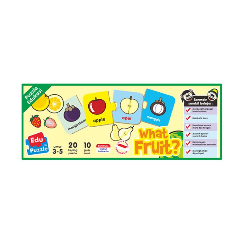 TMO Edu What Fruit Mainan Blok & Puzzle