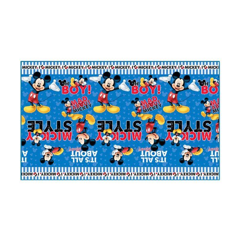 TMO Evamat Mickey Mouse Biru Hitam Tikar Gulung