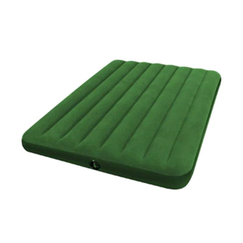 TMO Intex Full Classic Air Bed Double Hijau Tua Kasur Tiup