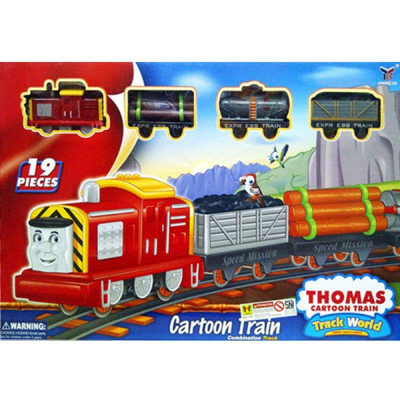 TMO Thomas Cartoon Train 19PC 233C5 Mainan Anak