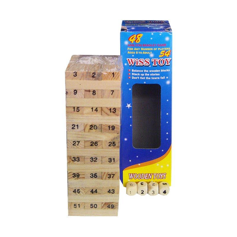Jual TMO Wooden Uno Stacko Wiss Toy Cream Mainan Anak Online - Harga ... a085a220dc