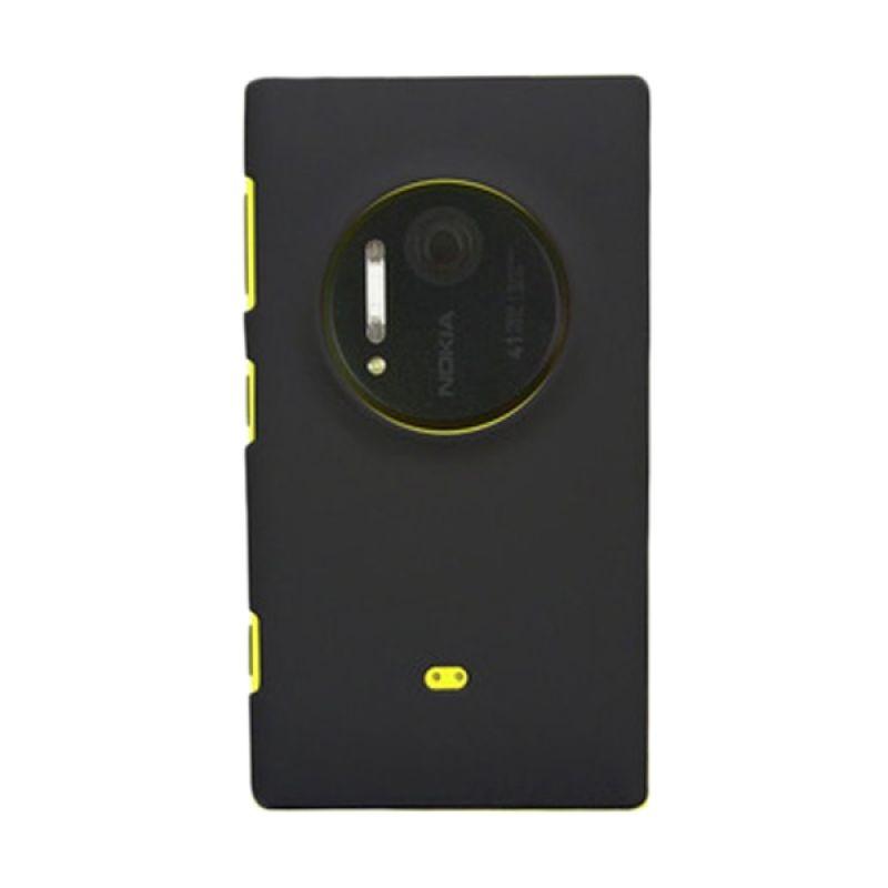 Rubberized Hard Hitam Casing for Nokia Lumia 1020