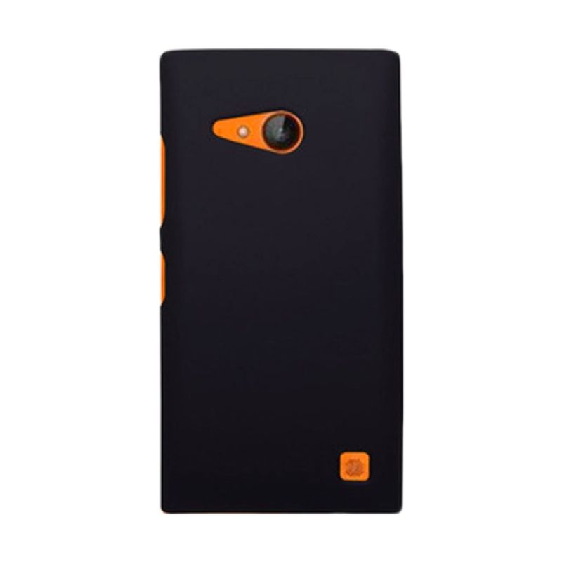 Rubberized Hard Hitam Casing for Nokia Lumia 730