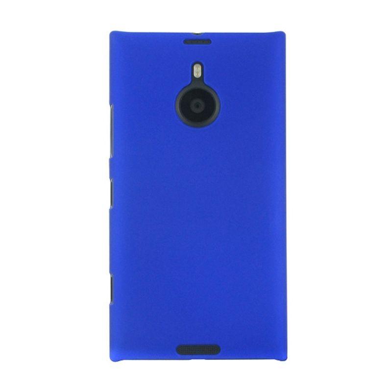 Rubberized Hardcase Biru Casing for Nokia Lumia 1520