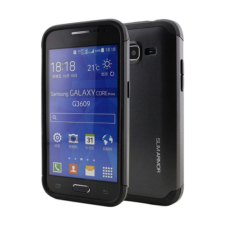 Spigen Slim Armor Black Casing for Samsung Galaxy Core LTE G386F