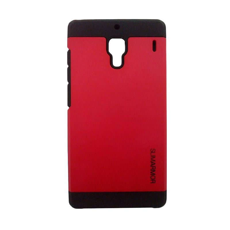 Spigen Slim Armor Case Merah Casing for Xiaomi Redmi 1s