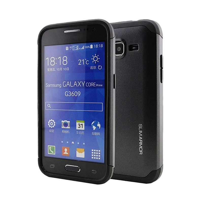 Spigen Slim Armor Hitam Casing for Samsung Galaxy Core prime G360