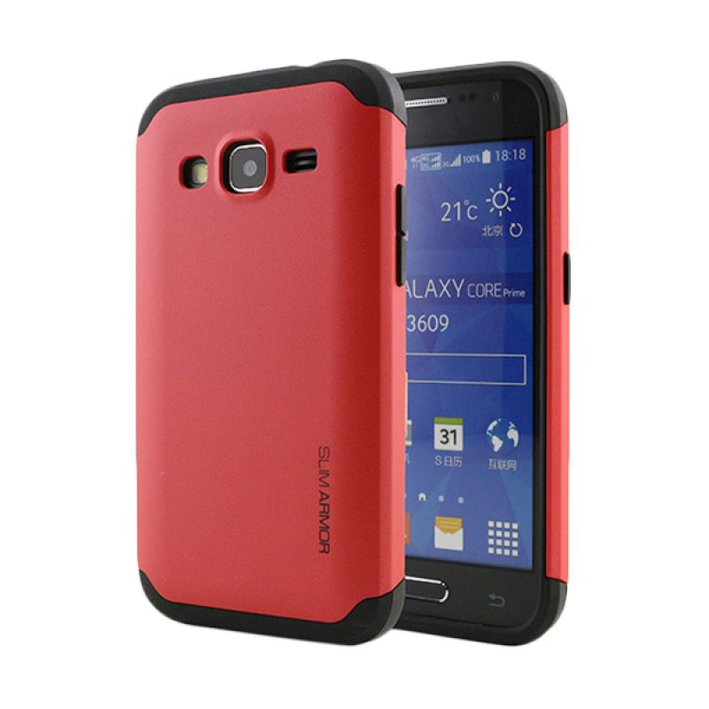 Spigen Slim Armor Red Casing for Samsung Galaxy Core LTE G386F